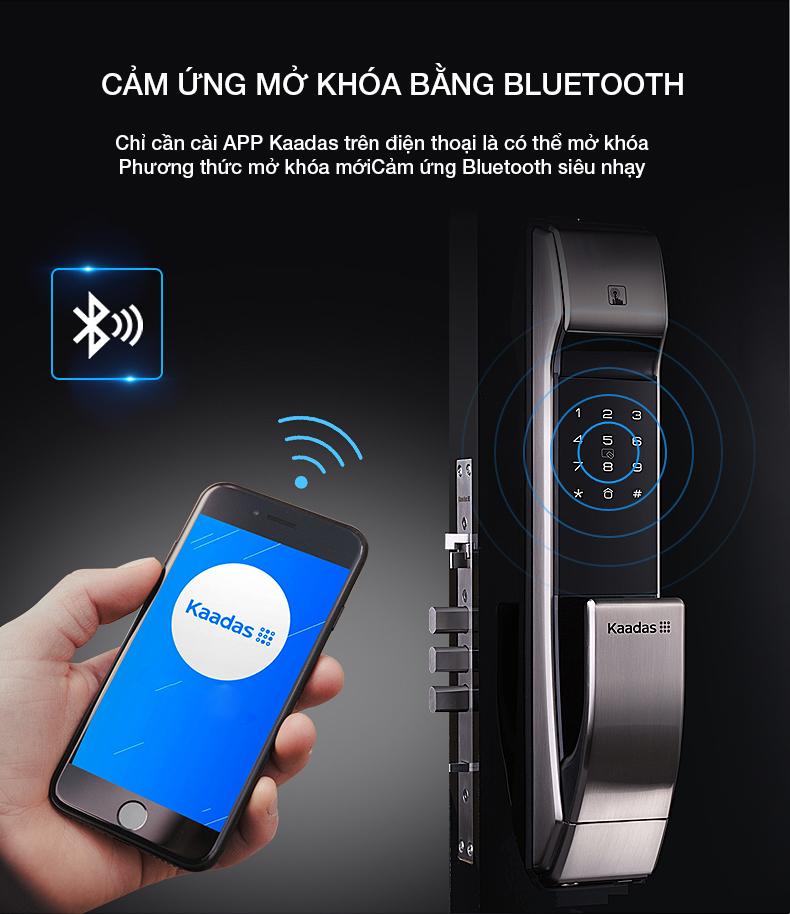 khóa vân tay K7 mở khóa bằng bluetooth