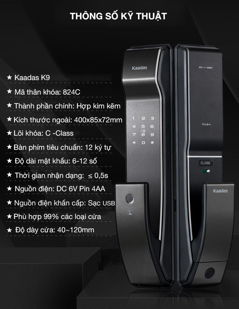 khóa vân tay kaadas K9 -3