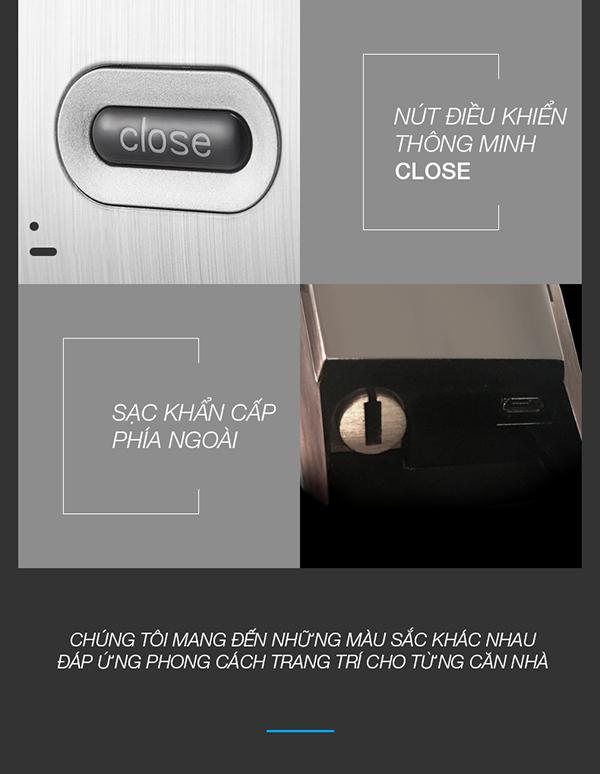 khóa cửa vân tay Kaadas K8 -15