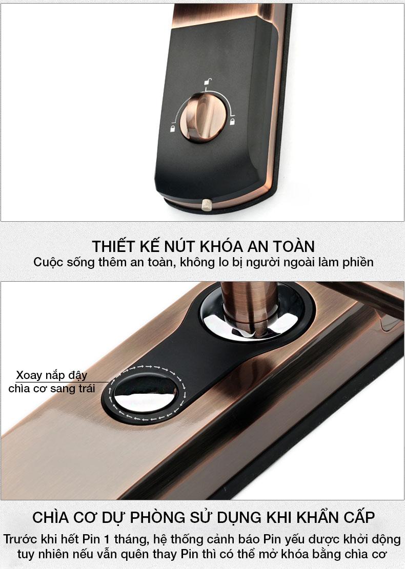 khóa vân tay kaadas 9113 -14