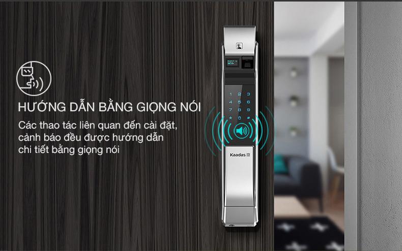 khóa vân tay kaadas K7 với chức năng hướng dẫn bằng giọng nói