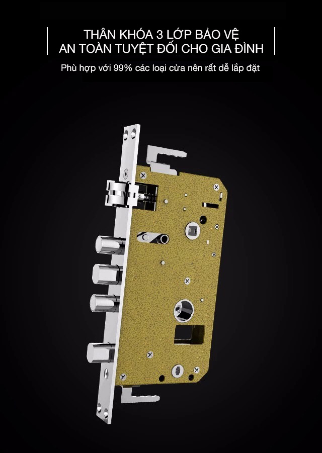 Thân khóa cửa vân tay Kaadas S7