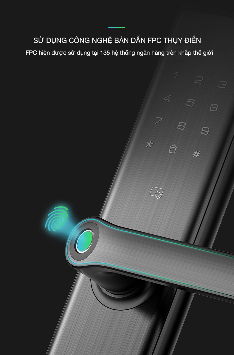 khóa cửa vân tay Kaadas S7 -12
