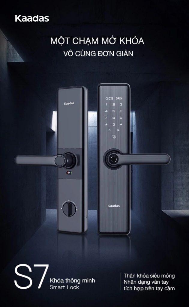 khóa cửa vân tay Kaadas S7 -1