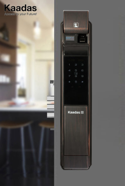 khóa cửa vân tay Kaadas K7 vân gỗ 7