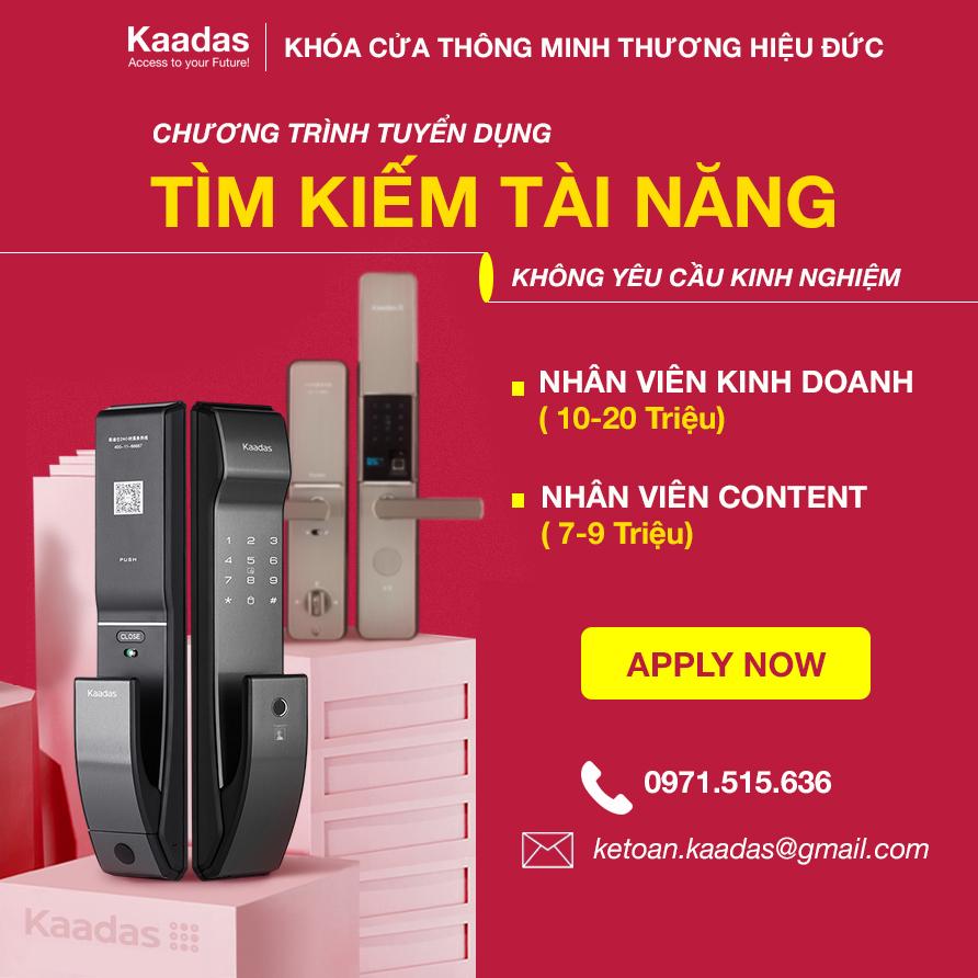 Kaadas tuyển dụng nhân viên kinh doanh content 2