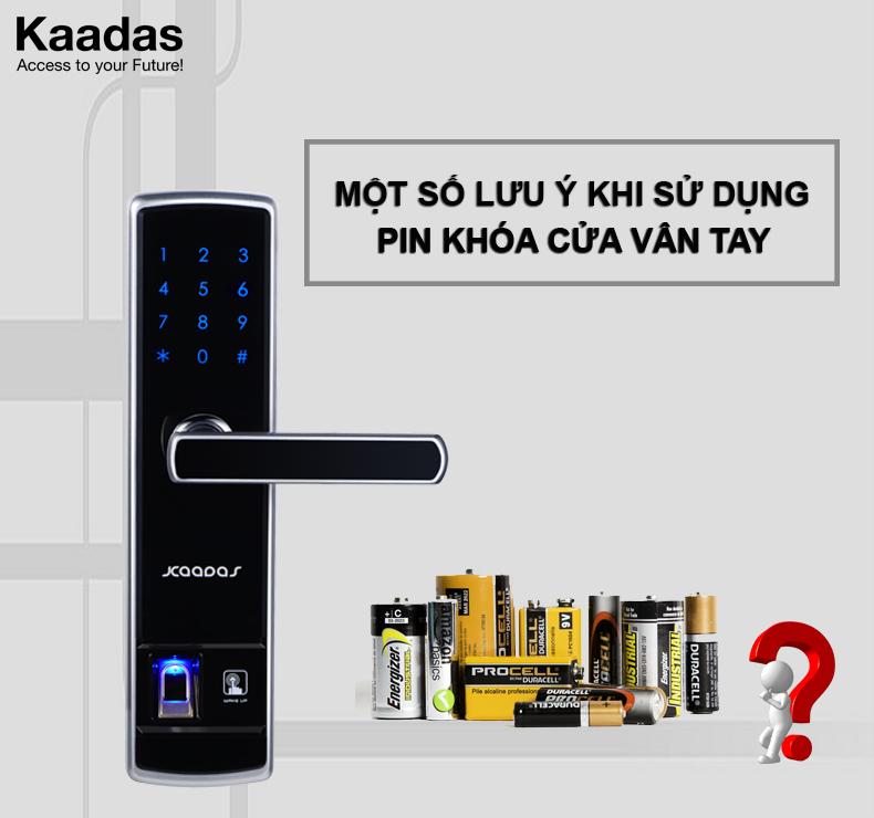 Lưu ý khi sử dụng pin cho khóa cửa vân tay