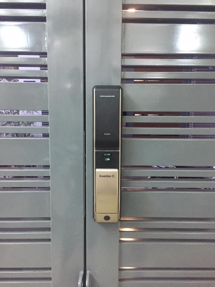 khóa vân tay cửa sắt/ khóa vân tay cho cửa sắt Kaadas K7-21