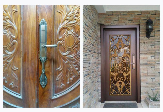 khóa cửa gỗ vân tay