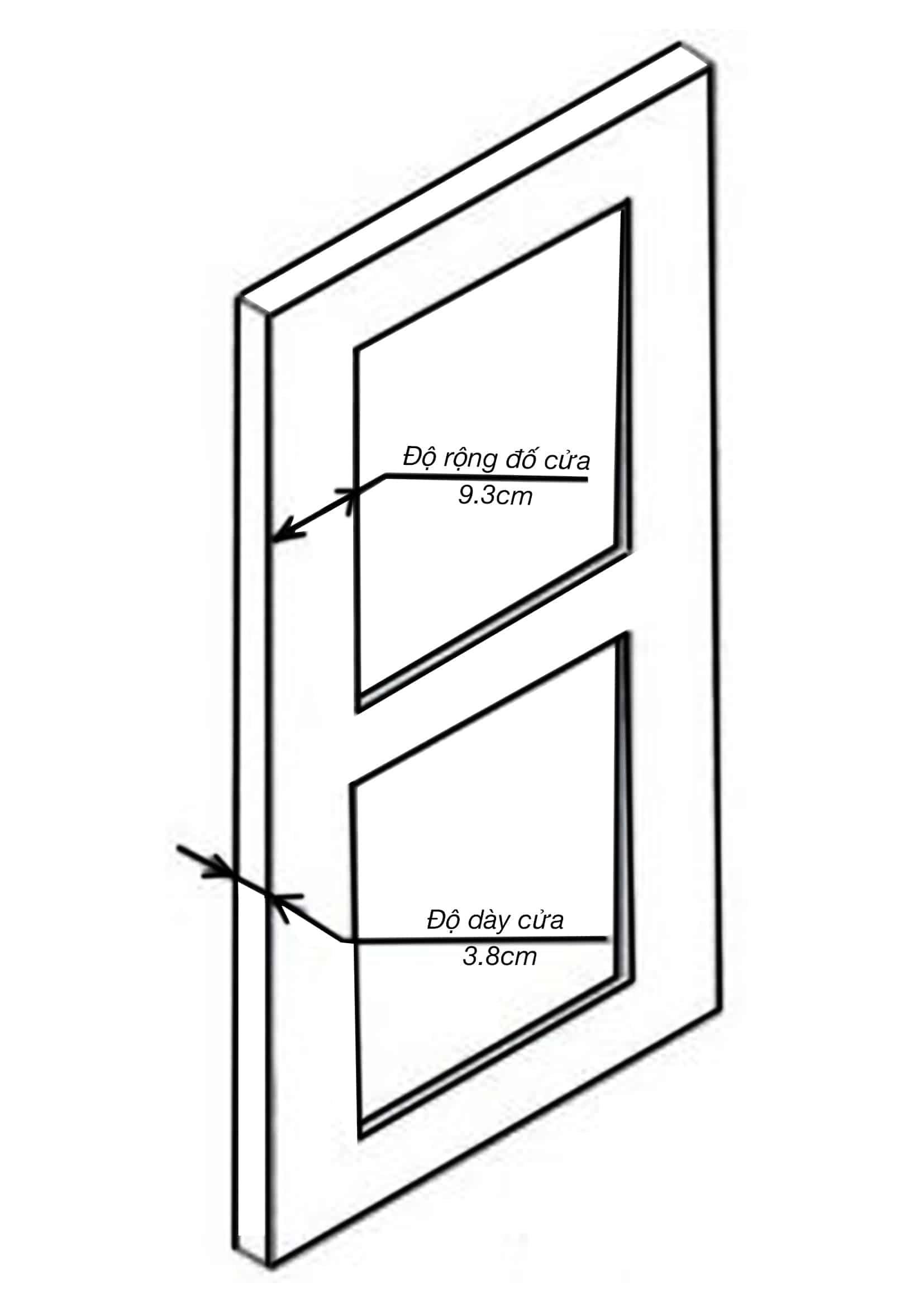 tiêu chuẩn cửa để lắp khóa vân tay