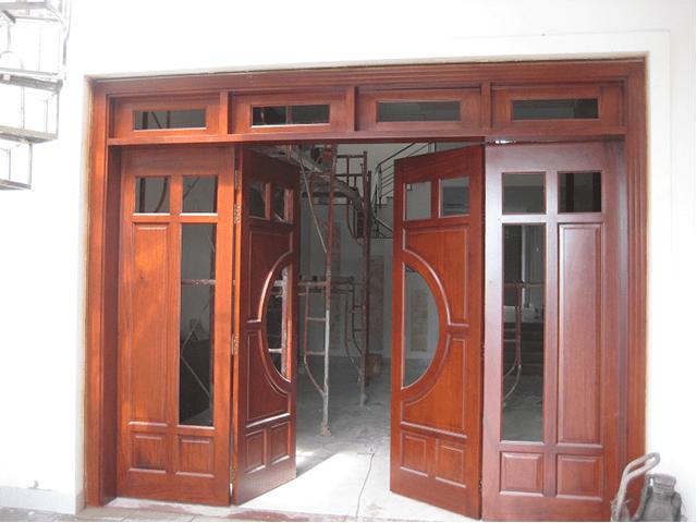 cửa gỗ á đông