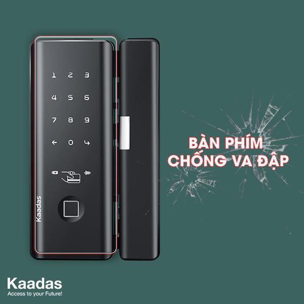 khóa cửa thông minh cho cửa kính Kaadas M500